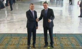 Macri se re�ne con Bolsonaro para modernizar el Mercosur
