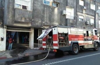 Se incendió un edificio en la zona del microcentro