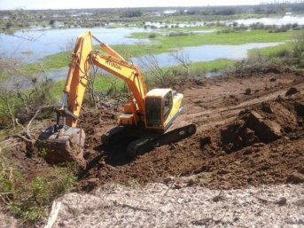 Avances en la construcción del desvío en la zona del Aº Guazú