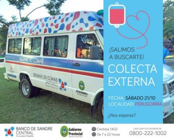 Mañana se realizará una nueva colecta externa en Perugorría