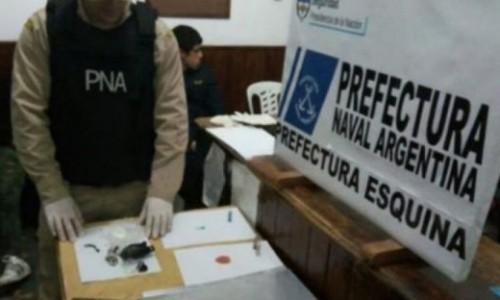 Pareja detenida al intentar cruzar el arroyo Guazú con carga de droga
