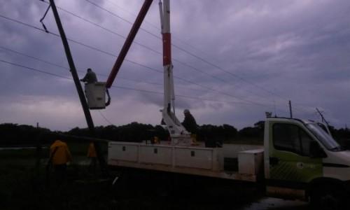 DPEC repuso el 100% del servicio en la zona centro de la Provincia, tras el temporal