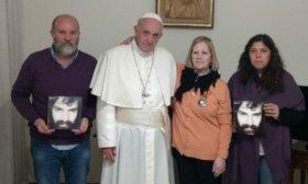 El Papa recibi� a la familia de Santiago Maldonado