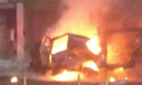 Explot� una camioneta en cercan�as del Congreso de la Naci�n