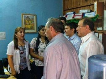 Tassano y Lanari recorrieron oficinas municipales saludando a los empleados