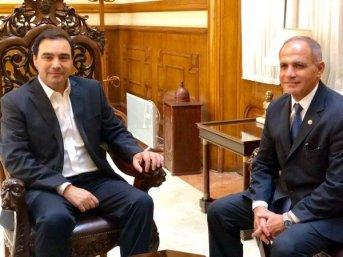 Valdés recibió en su despacho al Presidente del STJ