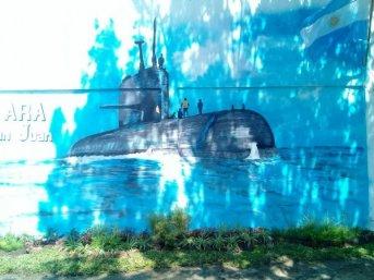 Esta noche descubren el mural en homenaje al ARA-San Juan en las Mil Viviendas