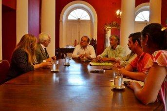 Tassano recibió a miembros del Consejo profesional de la ingeniería agronómica