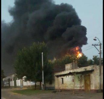 Incendio en la fábrica Litoral Citrus