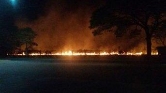 Voraz incendio en terrenos del Campus de la UNNE