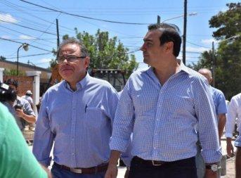 Valdés y Tassano recorrieron obras que Provincia ejecuta en Capital