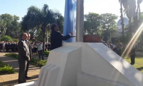 Tassano encabezó el acto de conmemoración del 240º aniversario del nacimiento de San Martín
