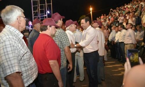 Valdés participó en la Cantata a San Martín y encabeza los actos centrales en Yapeyú<br />