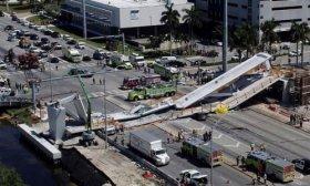 Se derrumb� un puente peatonal de la Universidad Internacional de Florida en Miami: hay varios muertos
