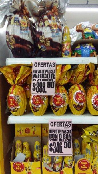 Exclusivo: El precio de los huevos de pascuas comienzan en $30 y se extienden hasta los $900