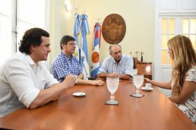 El Viceintendente se reunió con representantes de la  Fundación TelMed