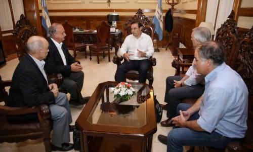 El Gobernador Valdés recibió a concejales de Santa Lucía y referentes del Grupo Las Marías