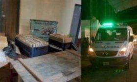 Gendarmer�a Nacional Incaut� 84 kilos de marihuana de una ambulancia del Sipec