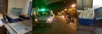 Gendarmería Nacional Incautó 84 kilos de marihuana de una ambulancia del Sipec