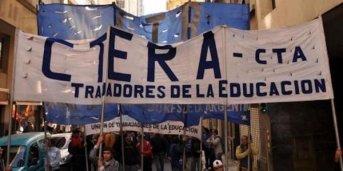 CTERA va con cinco puntos al paro nacional y segunda marcha federal