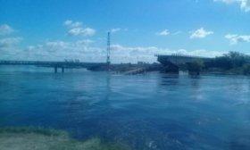 Se desprendi� una parte del puente colapsado sobre el arroyo Guaz�