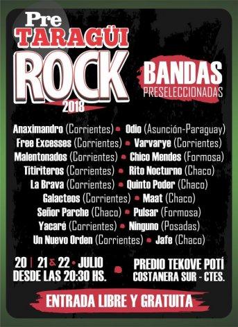 Bandas de la región competirán por un lugar en el Taragüí Rock