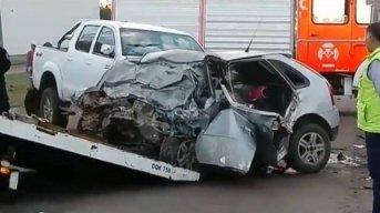 Falleció el hombre internado hace un mes en el Escuela tras choque de auto y camioneta