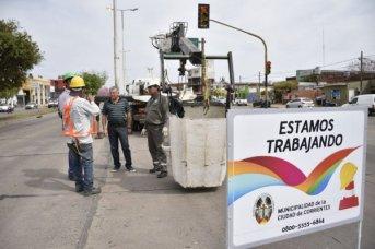 Reparan el sistema de iluminación en el corredor Belgrano