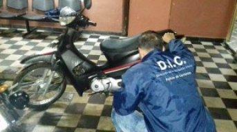 Persecución bajo la lluvia y recupero de una moto sustraída