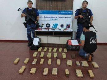 Iguazú: Estaba armado pero huyó y abandonó 20 kilos de marihuana