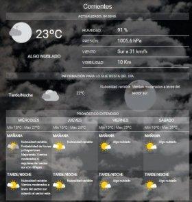 Pronostican miércoles inestable con probables lluvias