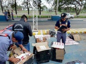 Golpe al contrabando: la Policía secuestró cigarrillos de origen extranjero valuado en más de un millón
