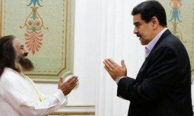 Maduro se reuni� con Ravi Shankar, el gur� espiritual de Mauricio Macri