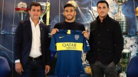 Boca presentó a Toto Salvio con un original video