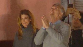 Mauricio Macri desde el balcón de la Casa Rosada:
