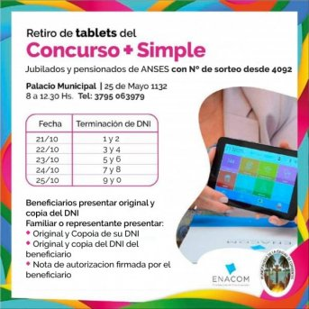 Segunda etapa de entrega de tablets para adultos mayores