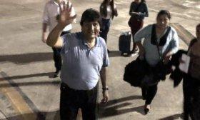 Tras una escala en Paraguay, Evo Morales retom� su viaje hacia M�xico