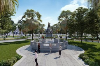 El gobernador Valdés anunció la restauración de la Plaza 25 de Mayo