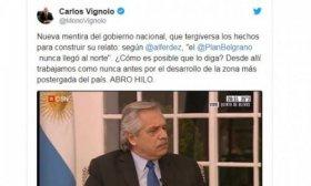 Carlos Vignolo desminti� a Alberto Fern�ndez en sus dichos sobre el Plan Belgrano