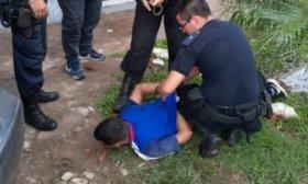 Vecinos atraparon a un hombre que arrebat� la cartera a una se�ora