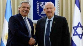 El Presidente se reunió con su par israelí y se encontrará con Netanyahu