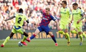 Barcelona venci� a Getafe y se subi� a la punta