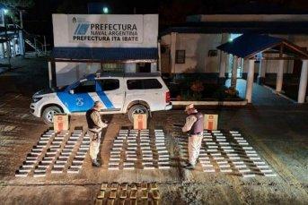 Itá Ibaté: secuestraron casi 15 kilos de marihuana y 1.400 atados de cigarrillos