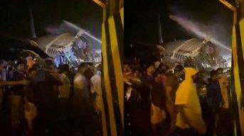 Air India confirmó que el avión se despistó en el aterrizaje