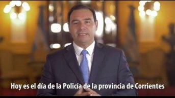 Valdés saludó a todos los funcionarios y agentes policiales