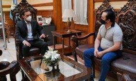 El Gobernador recibi� en su despacho privado al secretario general de la AOEM