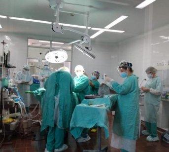 Se colocó el primer dispositivo del año en el hospital Pediátrico