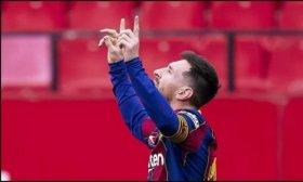 Messi redonde� una importante victoria de Barcelona ante Sevilla