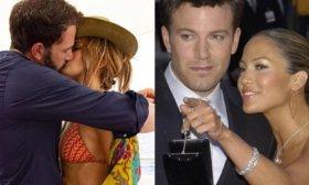 Jennifer Lopez public� una foto bes�ndose apasionadamente con Ben Affleck